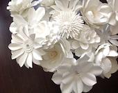 Custom listing for Danielle White Paper flowers set of 50 no stems