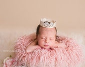 Newborn Flokati Photography Props, LaRGe Peony Pink Long Wavy Sheep Faux Fur, Newborn Photo Props, Baby Props, Floor, Pink Fur, Flokati
