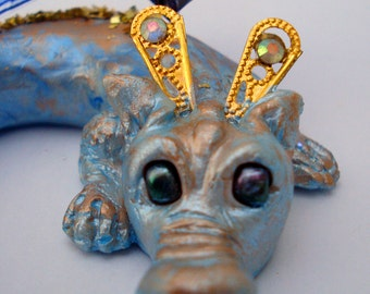 OOAK Polymer Clay Baby Fairy Dragon Art doll Sculpt