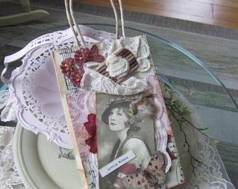 Decorative Gift Bag - Handmade Gift Bag - Victorian Gift Bag