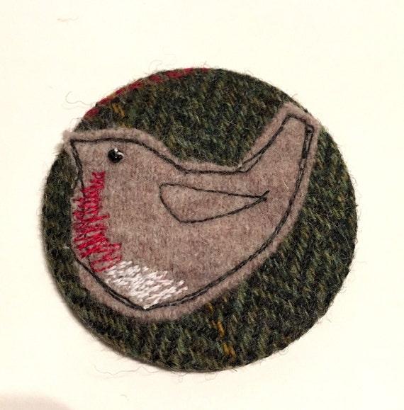 Christmas Robin bird brooch