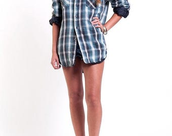 35% OFF SPRING SALE The Plaid Flannel Grunge Button Down Shirt