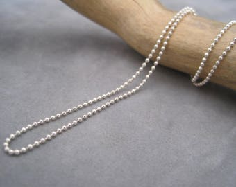 Sterling Silver Ball Chain - 1.2mm - Decorative Chain