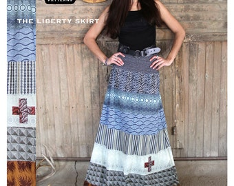 The Liberty Skirt Pattern by Parson Gray from Amy Butler (PG02LS) Sewing Pattern