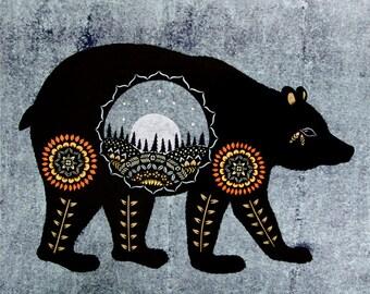 Ursa Major - 16 x 20 inch Cut Paper Art Print