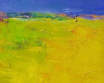 Small Box Painting 1169 - Original Oil Painting - 22.7 cm x 22.7 cm (app. 8.9 inch x 8.9 inch)