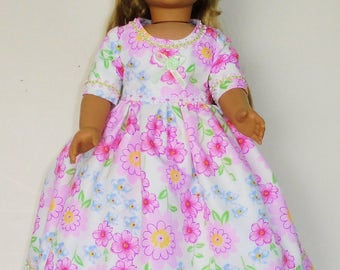 Spring or Summer dress designed for American Girl 18 inch doll   No. 699
