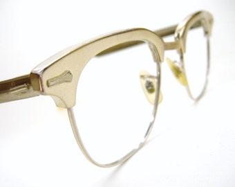 Vintage 50s Shuron Horn Rim Eyeglasses Frame 12Kt Gf