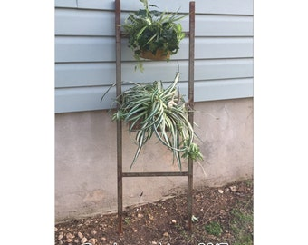 Ladder - Metal Ladder - Iron Ladder - Vintage Ladder - Blanket Ladder - Green Ladder - Decorative Ladder - Industrial Ladder - Rusty Ladder