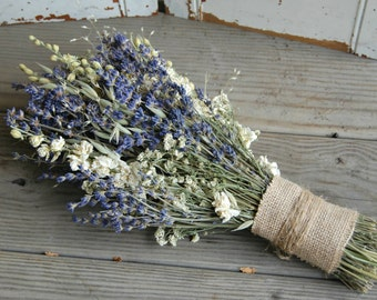 Bridal Bouquet / Dried Lavender Bouquet / Wedding Dried Flower Bouquet /