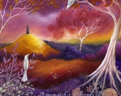 Reserved for Leigh.  An art print from an original painting by Amanda Clark . Meeting Place.  contemporary art, landscape art,