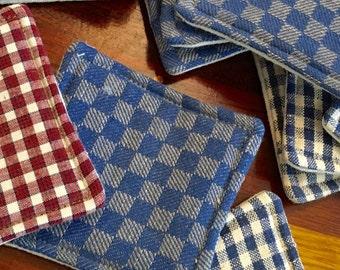 Vintage Textile Coasters (set of 4)