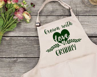 Personalised Grown By Gardening Apron