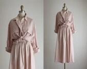 ballet pink linen dress set
