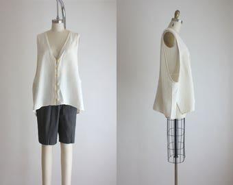slouchy textured vest