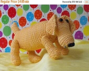50% OFF SALE Instant Digital File pdf download knitting pattern-MADMONKEYKNITS- Nursery Toy Sammy Sausage Dog pdf download knitting pattern