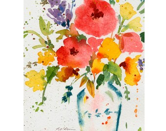 Bright Flowers Note Cards Pack