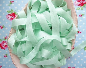 Vintage Style Seam Binding Ribbon - Lime Sorbet - 1/2 inch - 5 Yards
