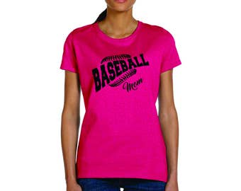 Baseball mom team shirt, personalize with name or number, custom t-shirt, number 1 fan, baseball games, little league, baberuth, school ball
