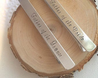 Tie Bar, Tie clip, Father of the Groom, Father of the Bride.
