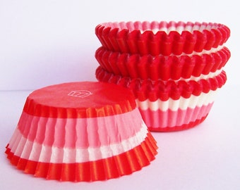 MINI Red Swirl Cupcake Liners- Choose Set of 50 or 100