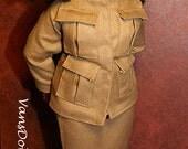 Dasia Clothing Tan Safari Jacket and Skirt