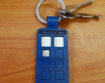 Leather TARDIS Key Ring