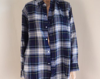 brooks brothers shirt, men plaid shirt, men wool shirt. 54 chest, xl