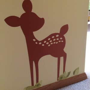 Fawn Vinyl Wall Decal Nursery Baby Girl Boy Children