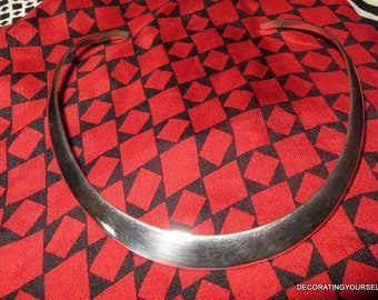 Sterling Silver Collar Necklace Choker Mexico 31g