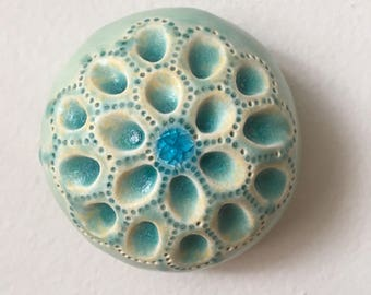 Sea Jewel Ceramic Turquiose Wall Pod With Bue Glass 2