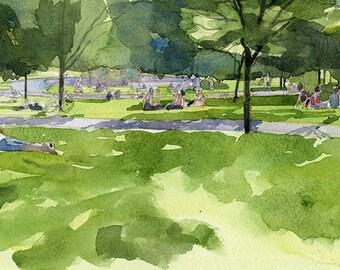 Summers day in Kelvingrove Park