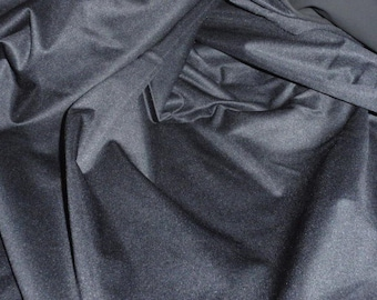 Black Polyester/Polyurethane Laminated Knit Fabric  60 Wide  Sold by the Yard