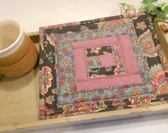 Quilted Hot Pad, Pot Holder, Table Topper or Mug Rug