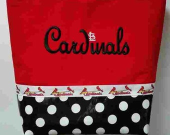 Cardinals Red Script Purse