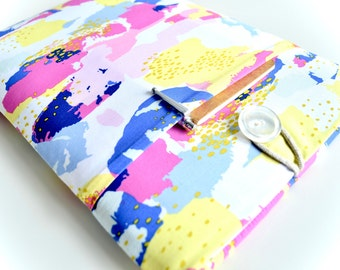 """MacBook Pro Case, Laptop Case, MacBook Air Case, 11.6"""", 13.3"""", 15.4"""" Padded Laptop Sleeve with Pocket - Paint Strokes"""