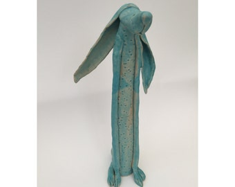 Ceramic animal, Ceramic Hare, animal gift, sculpture, pottery