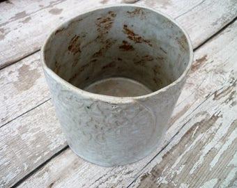Ceramic stoneware handmade plant pot.  Indoor or outdoor.  Home decor, gift idea, ceramic planter
