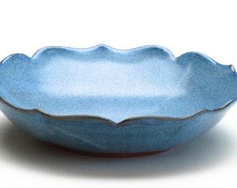 Sky Blue Lotus Bowl / Stoneware Bowl