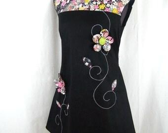 Dress Kyriu Japanese flowers and spirals