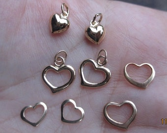 Gold Filled Heart Charms-You choose which one