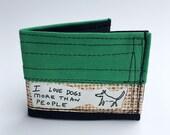 Bifold wallet, men's wallet, vegan wallets, eco friendly wallets, recycled wallet