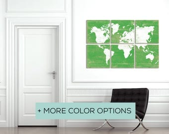 Browse our Colorful World Maps for Sale in Over 25 Color Options - Map Home Decor