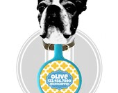 Casbah Personalized Dog ID Pet Tag Custom Pet Tag You Choose Tag Size & Colors