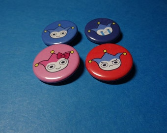 Badgers from Phoenix Wright Pinback Button Set (or Magnets)