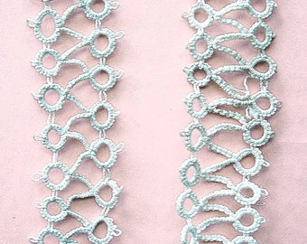 Vintage Handmade Tatting Off White Cotton Trim