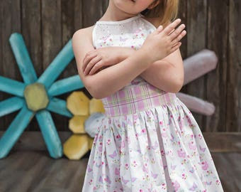 Girls Spring Dress - Mothers Day Dress - Girl Twirl Dress - Flower Girl Dress - Church Dress - Party Dress - Birthday Dress - Pictures Dress