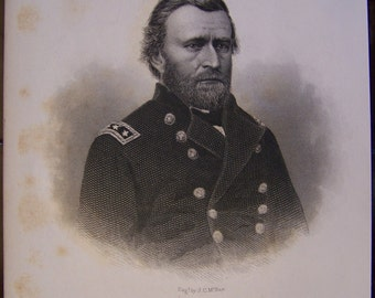 Antique Print of Ulysses S. Grant