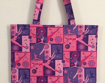 Gymnastics Tote Bag/Book Bag/Project Bag