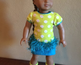 18 Inch Doll Clothes Polka Dot Sweater Outfit